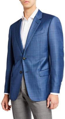 Emporio Armani Men's Super 130s Plaid Sportcoat