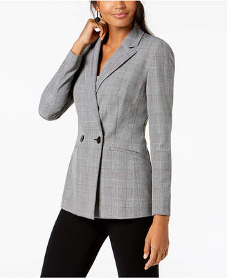INC International Concepts I.n.c. Petite Double-Breasted Menswear Blazer