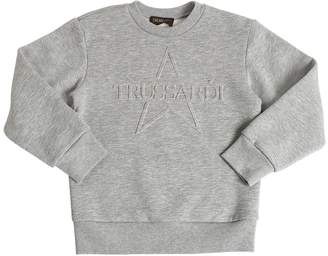 Embossed Logo Cotton Sweatshirt