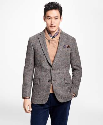 Brooks Brothers Regent Fit Harris Tweed Herringbone with Multi-Windowpane Sport Coat