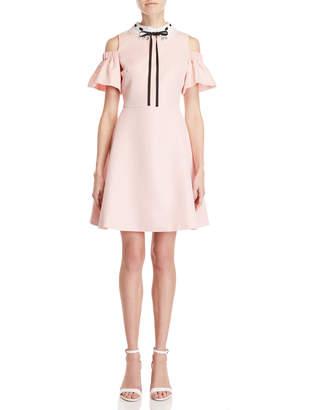 Ted Baker Jacquard Cold Shoulder Dress