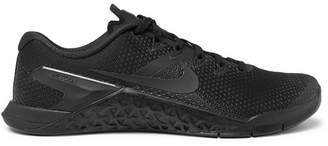 Nike Training - Metcon 4 Rubber-trimmed Mesh Sneakers - Black