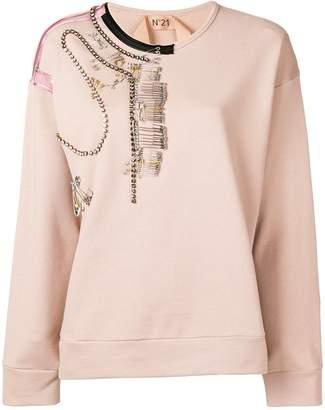 No.21 oversized embellished sweatshirt