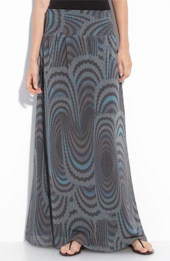Hinge® Print Chiffon Maxi Skirt