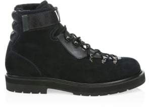 Valentino VLTN Shearling-Lined Hiking Boots