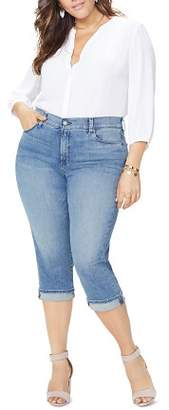 NYDJ Plus Marilyn Cropped Jeans in Pacific