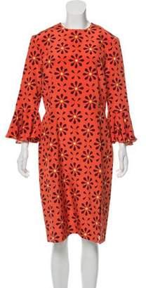 Holly Fulton Silk Printed Midi Dress w/ Tags
