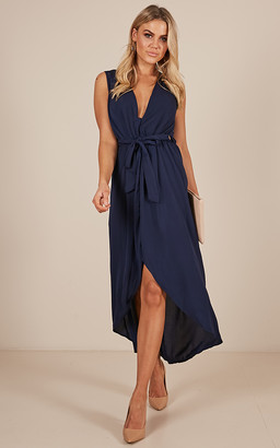 Showpo Morning To Night dress in navy-4 (XXS) Sale Dresses