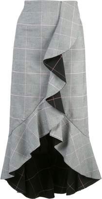 Alice + Olivia Alice+Olivia asymmetric ruffled skirt