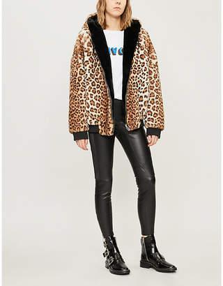 The Kooples Reversible faux-fur hooded jacket