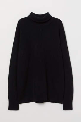 H&M Cashmere-blend Turtleneck - Black