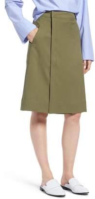 J.Crew J. Crew Kiki Faux Wrap Skirt (Petite)