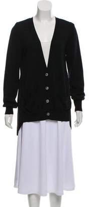 Sacai Wool Long Sleeve Cardigan