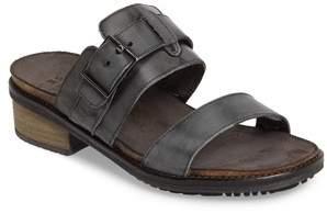 Naot Footwear Flower Block Heel Slide Sandal