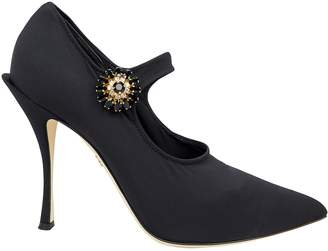 Dolce & Gabbana Mary Jane Stretch Jersey Pumps