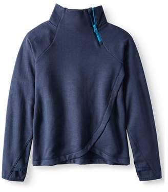 Avia Girls' Zip Neck Cozy Fleece Pullover