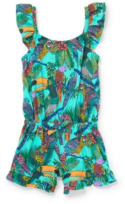 Children's Place The  Toddler Girls' Tropical Print Knit Romper