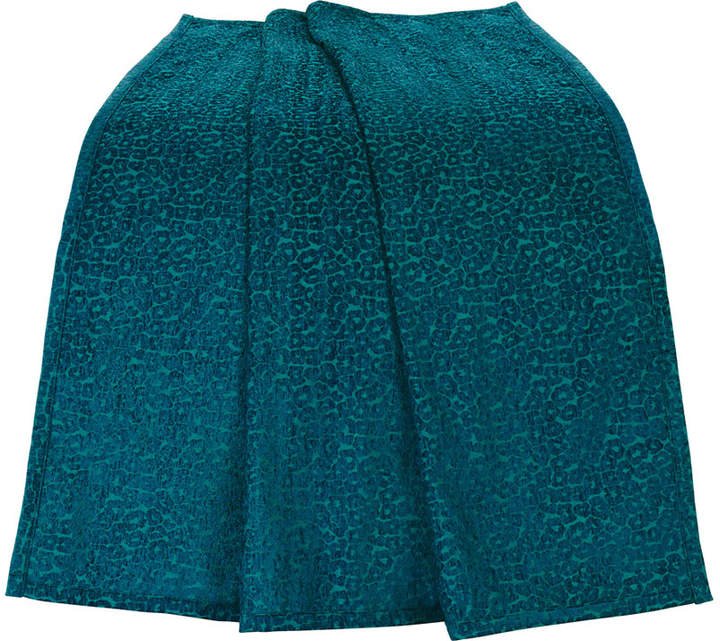 Hiend Accents Teal Chenille Leopard 50