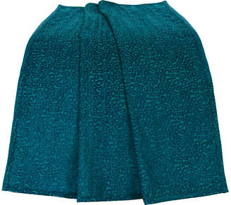 "Hiend Accents Teal Chenille Leopard 50""x60"" Throw"