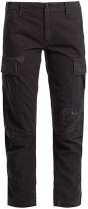 RE/DONE ORIGINALS Cargo cropped cotton trousers