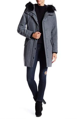 Andrew Marc Devyn Genuine Fox Fur Trimmed Wool Blend Parka $895 thestylecure.com