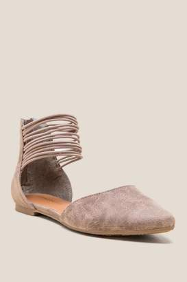 Prema Multi Ankle Strap D'Orsay Flat - Taupe