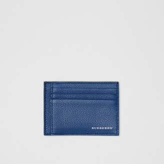 Burberry Grainy Leather Money Clip Card Case