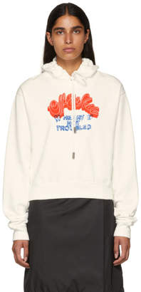Off-White White Heart Not Troubled Hoodie