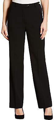 Gardeur City Straight Leg Trousers, Black