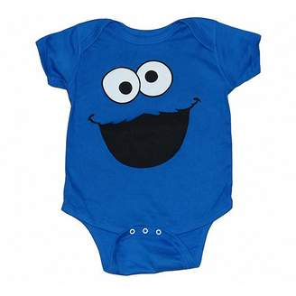 Sesame Street Cookie Monster Face Infant Onesie Romper