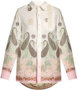 Ashish Paisley-embroidered cotton shirt