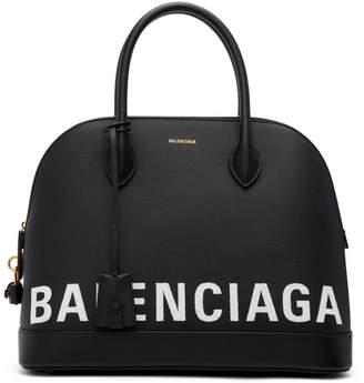 Balenciaga Black Medium Ville Top Handle Bag