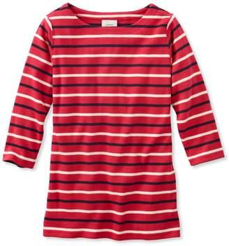 L.L. Bean L.L.Bean French Sailor's Shirt, Three-Quarter-Sleeve Boatneck Multi-Stripe