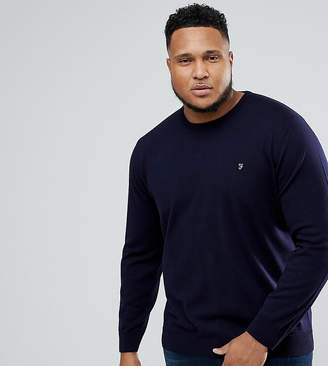Farah PLUS Mullen Merino Sweater in Navy