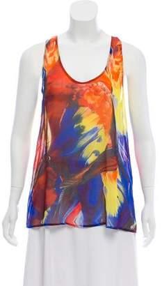 Camilla Silk Abstract Top