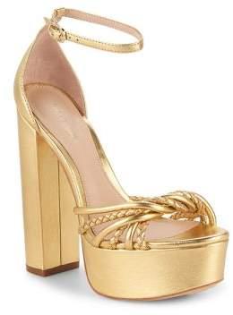 Rachel Zoe Kinsley Leather Platform Sandals