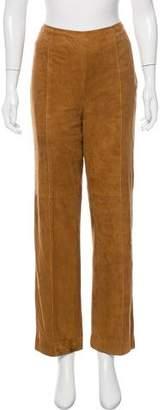 Akris Suede High-Rise Pants