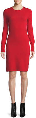 Neiman Marcus Cashmere Long-Sleeve Sweater Dress, Plus Size