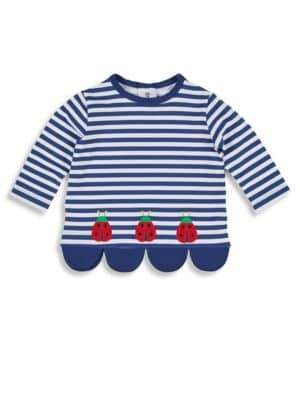Florence Eiseman Little Girl's Ladybug Striped Top