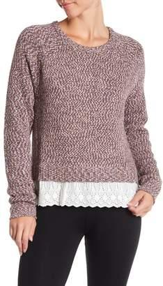 Tart Knit Crew Neck Sweater w\u002F Eyelet Hem