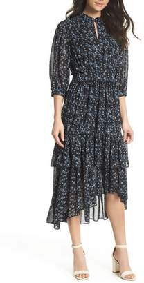 EVER NEW Floral Ruffle Midi Dress