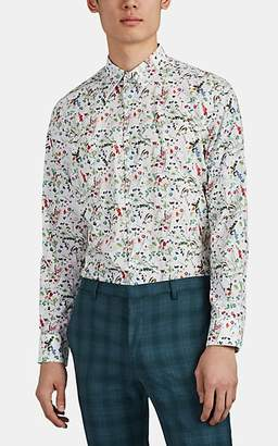 Paul Smith Men's Floral Cotton Poplin Shirt - White