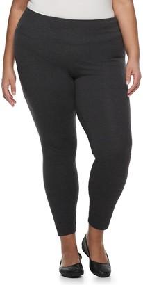 Croft & Barrow Plus Size Tummy Control Pull-On Leggings