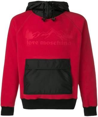 Love Moschino logo embossed hoodie