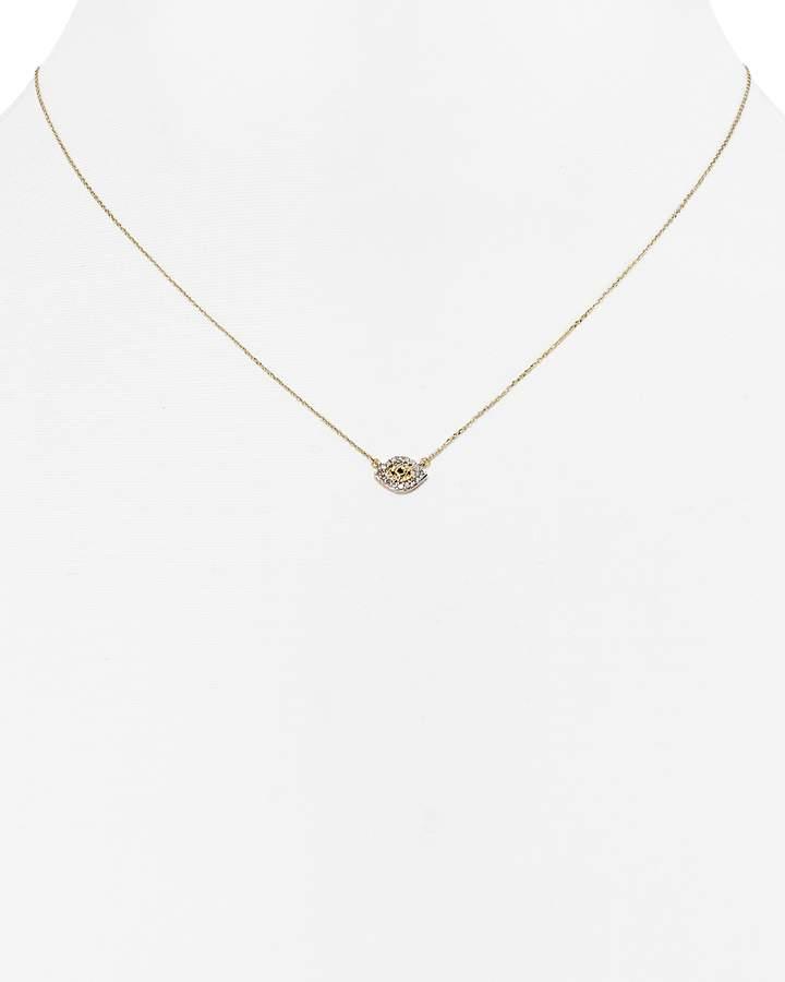 Adina Diamond Evil Eye Necklace, 15