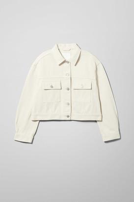 Weekday Dusk Tinted Ecru Denim Jacket - Beige