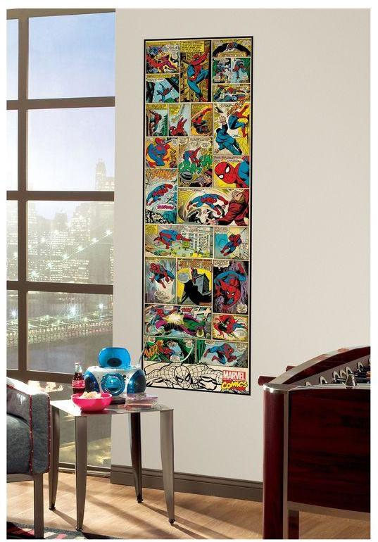 3 in. x 17.5 in. Marvel Comic Panel Spiderman Classic Peel and Stick Giant Wall Decal