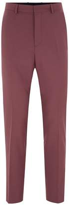 Topman Mauve Skinny Fit Suit Trousers