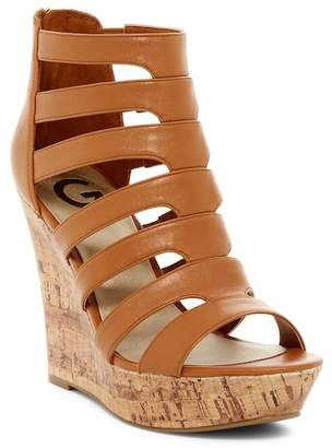 G by GUESS Darien Platform Wedge Sandal $69 thestylecure.com