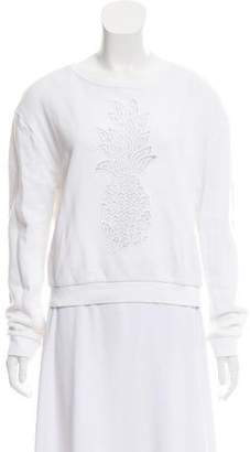 Chloé Embroidered Pineapple Sweatshirt